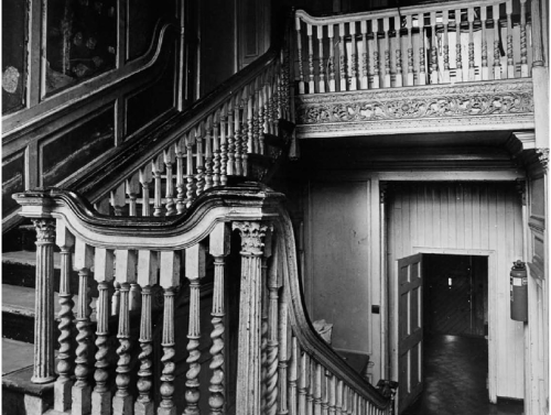 An undated image of the interior staircase of no. 10 Mill Street before it was vandalised. Credit - Clanbrassil Street 2, Sean-Lynch