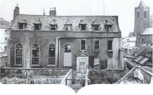 Tailors Hall in the 1970s, image from An Taisce (www.antaisce.org)