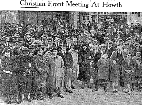 An October 1936 street meeting in Howth.