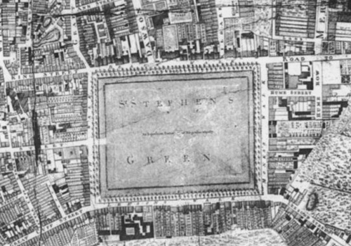 St. Stephen's Green as it appeared in the eighteenth century.