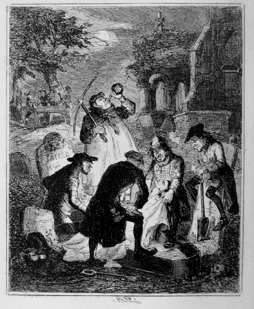 Resurrectionists (1847), by Hablot Knight Browne.  (Wiki)