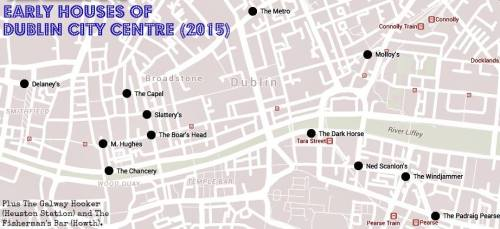 Map of Dublin Early Houses. Credit - Sam (CHTM!)