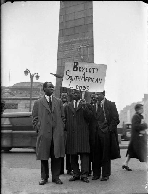 Calling for the boycott of South African goods in early 1960s Ireland. (Image: National Library of Ireland)