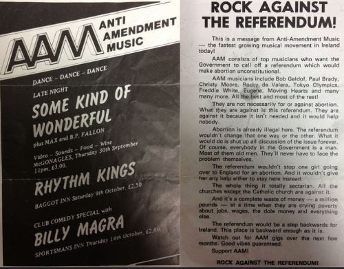 Anti-Amendment Music - Rock against the Referendum (1983). Uploaded by Student History Ireland Project.