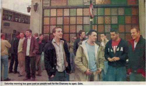 The Chancery featured in The Slate (2003). Scanned by Brand New Retro.