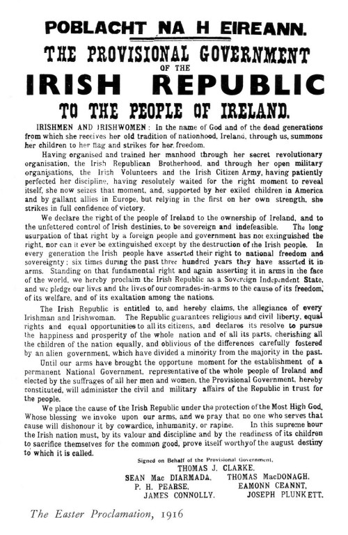 The Proclamation in full