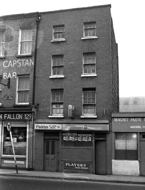 Fallon's and Paddy's Ice Cream and Sweets, 1980. Credit - Dublin City Photographic Collection.