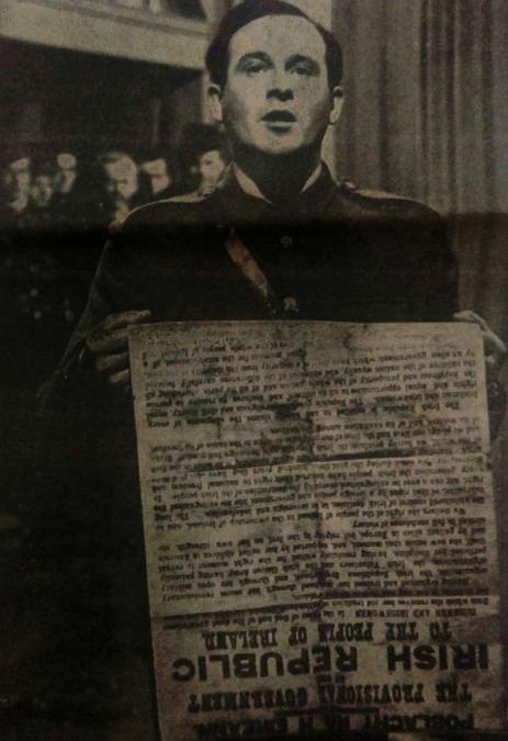 Patrick Pearse reading the 1916 Proclamation.