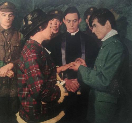 The wedding of Grace Gifford and Joseph Mary Plunkett in Kilmainham Gaol.