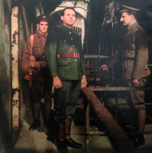 A scene from 'Insurrection', broadcast in 1966, showing Patrick Pearse (played by Eoin O Súilleabháin)