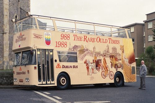 The first bus painted by the Freeney's. (From The Art of Painting Buses)
