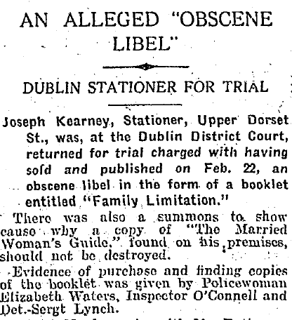 Joseph Kearney arrested. Irish Times, March 06, 1928.