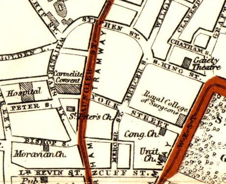Map of Stephen Street, 1912. Credit - swilson.info
