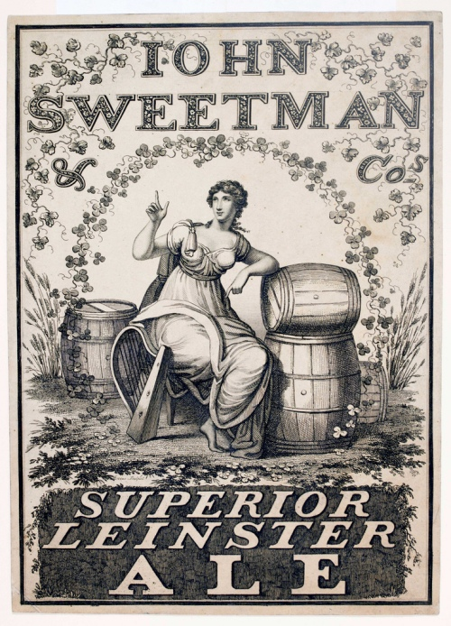 Very few of the commercial opponents of Guinness are remembered today. Sweetman's, another eighteenth century brewery,  survived right until the end of the nineteenth century. (Image: National Library of Ireland)