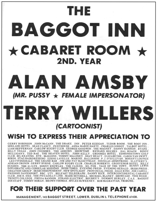 A 1971 advertisement for Alan Amsby (Thanks to Brand New Retro http://brandnewretro.ie/)