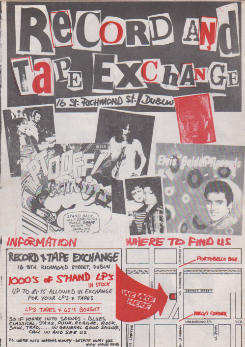 Advertisement for Record and Tape Exchance, 16 St. Richmond St