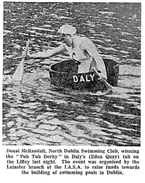 News coverage of the Pub Tub Derby, 1966.