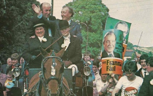 Haughey on the campaign trail (Magill magazine)