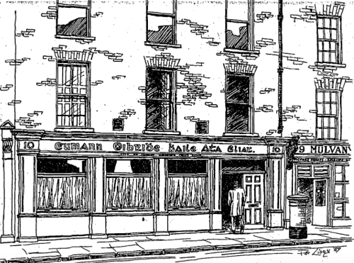 City of Dublin Working Men's Club, Wellington Quay (1989). Credit - Pat Liddy (Irish Times).