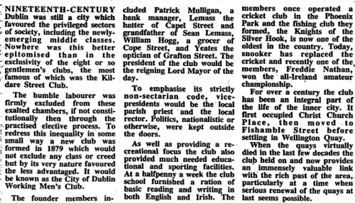 Article by Pat Liddy, Irish Times, 05 Apr 1989.