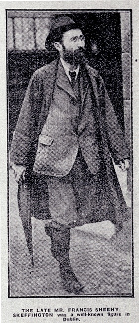Francis Sheehy Skeffington (Image Credit: http://source.southdublinlibraries.ie/handle/10599/316)