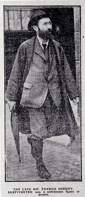 Francis Sheehy Skeffington (Image Credit: http://source.southdublinlibraries.ie/handle/10599/316)
