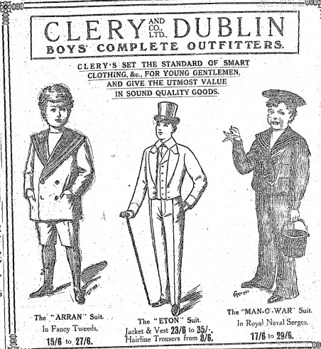 Clery's was an unsurprising target for looters. (1915 advertisement)
