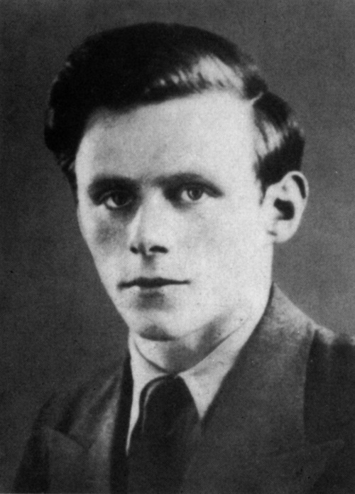 Charlie Donnelly. Former UCD student, the Republican Congress veteran and poet died in the Spanish Civil War.