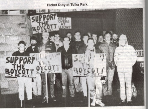 Picketing Tolka Park (From 'Hoops Upside Your Head' fanzine)