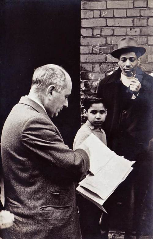Max on the campaign trail in 1940s/1950s. Credit - http://spitalfieldslife.com