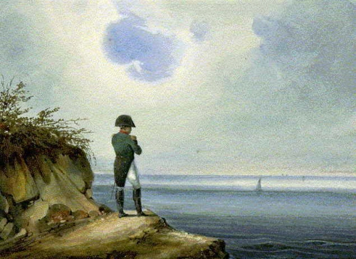 Napoleon in exile on St. Helena.