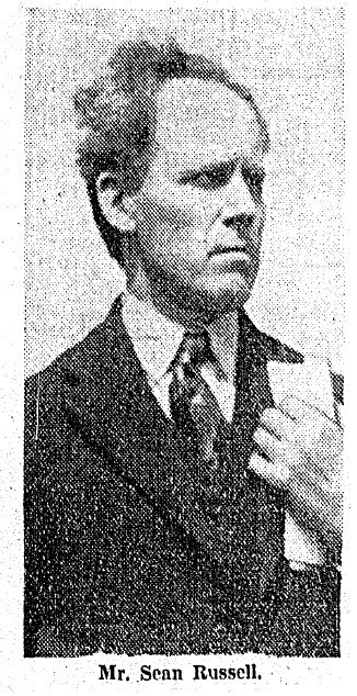 Seán Russell in the 1930s.  He died in August 1940 on board a German U-Boat, having attempted to secure German assistance for the IRA.