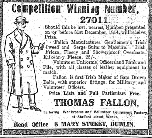 Advertisement for Thomas Fallon.
