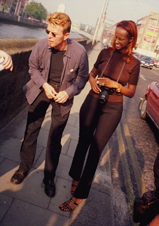 David Bowie on Wellington Quay, 1997. Credit - Tracey Emin via Broadsheet.ie