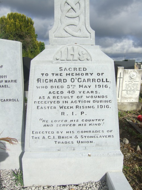 The grave of O'Carroll today in Glasnevin Cemetery (image credit: www.findagrave.com)
