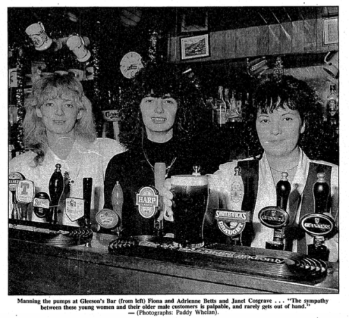 Gleeson's, 18 Augnier Street. (The Irish Times, 13 January 1992).