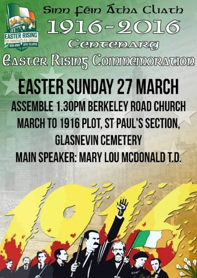 Easter Sunday - Sinn Fein parade.