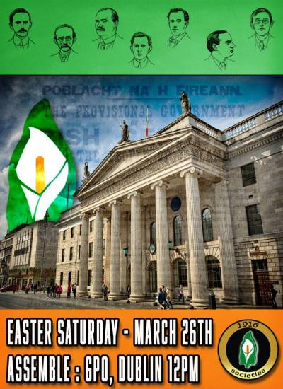 Seán Heuston 1916 Society's centenary march.