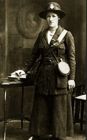 Rose MacNamara in uniform.