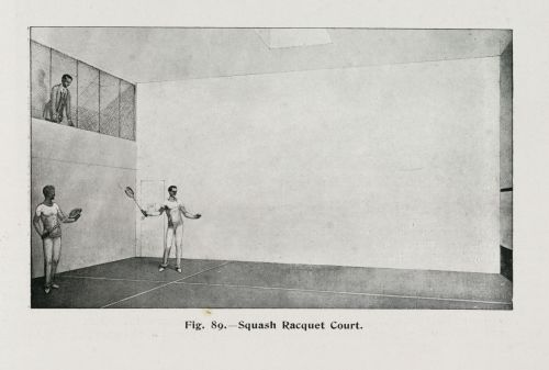 Squash court, c. early 20th century. Credit - GETTY SCIENCE & SOCIETY PICTURE LIBRARY / CONTRIBUTOR.