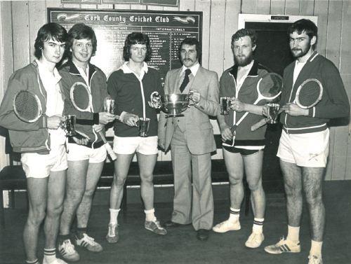 Squash team. UCC, 1970s/1980s. Credit - http://squash.ucc.ie/
