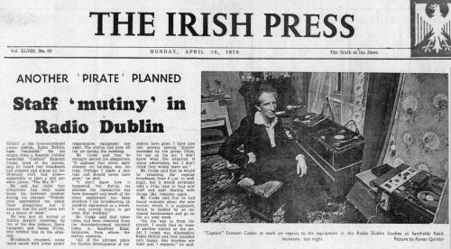 Eamon Cooke newspaper report. Irish Press, 10 April 1973.