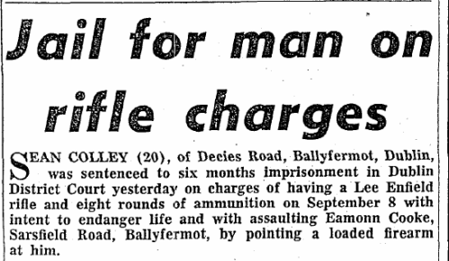 Eamonn Cooke newspaper report. (Irish Press, 05 Nov 1965)