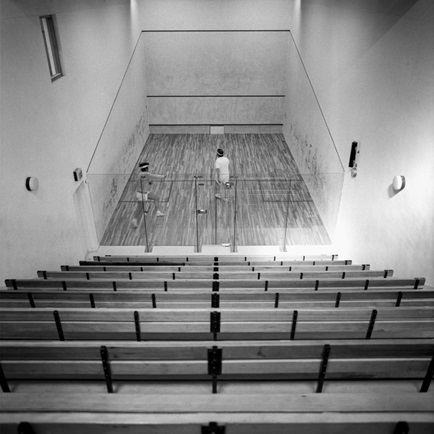 Squash court, Fitzwilliam Lawn Tennis Court in 1973. Photographed by John Donat (1933-2004). Credit - architecture.com.