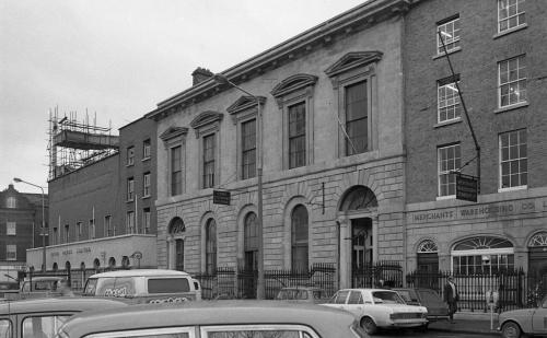 1970 street scene - from right to left - Corn Exchange Building, the Irish Press Building and The White Horse. Credit - dublincity.ie