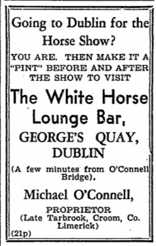 White Horse advertisement in the Limerick Leader (21 August 1948)