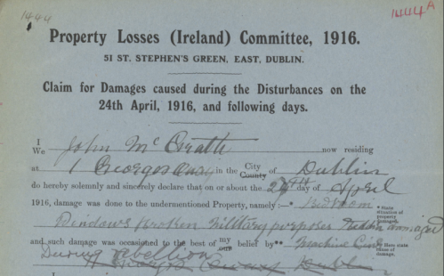 John McGrath, File ref. no. PLIC/1/1263. Property Losses (Ireland) Committee