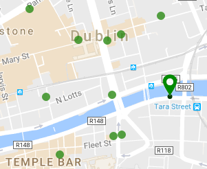 Starbucks in the surrounding area of O'Connell Street, 2016.