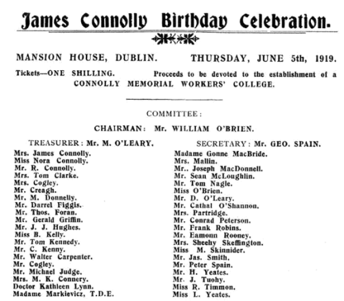 Republished in 'Songs of Freedom: The James Connolly Songbook' (PM Press, 2013), page 33.