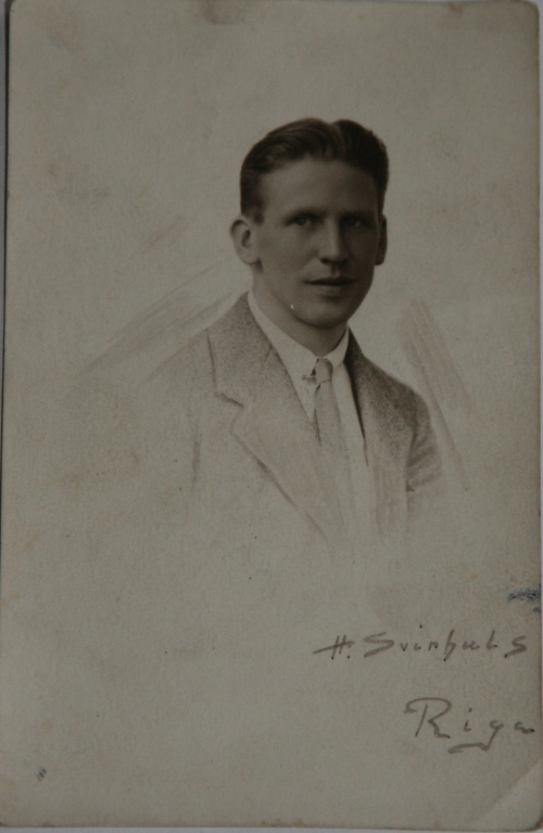 Konrad in Riga, Latvia pictured soon after his return from Dublin, c. 1919. Credit Brady Family via Sandra Bondarevska.